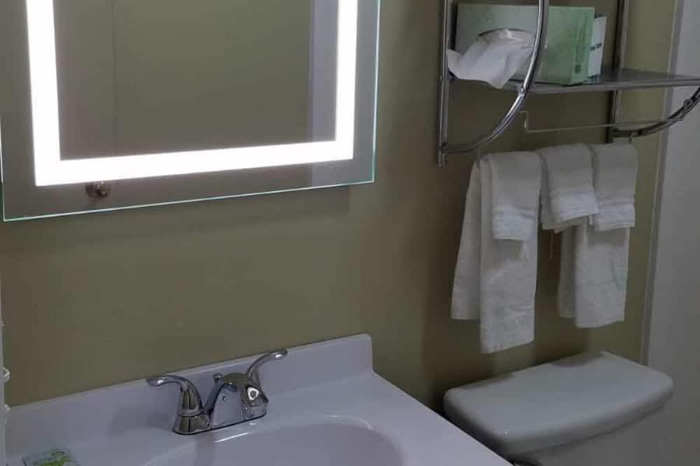 Dvojlôžková izba typu Basic, 2 veľké dvojlôžka, chladnička a mikrovlnná rúra - Kúpeľňa