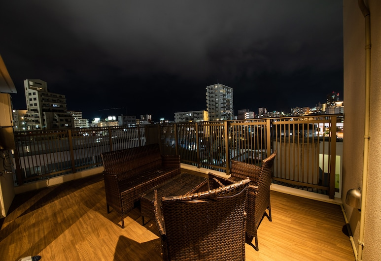 安內索牧志公寓式酒店, 那霸, 基本頂層客房, 1 間臥室, 非吸煙房, 露台, 城市景觀