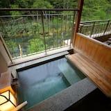 Twin Room with Tatami Area & Open-Air Bath, Non Smoking - Bathroom