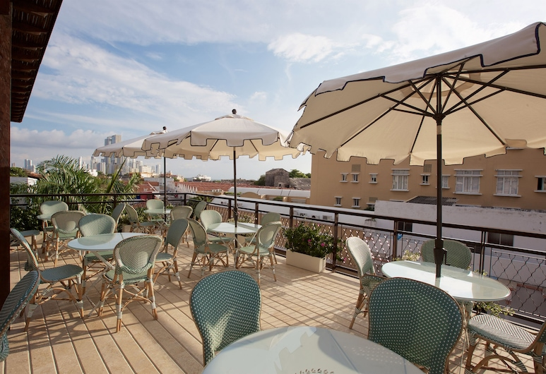 Hotel Capellan de Getsemani, Cartagena, Terrasse/patio