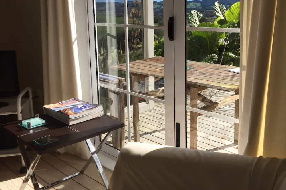 Rekreačná chata typu Deluxe, výhľad na záhradu - Obývacie priestory