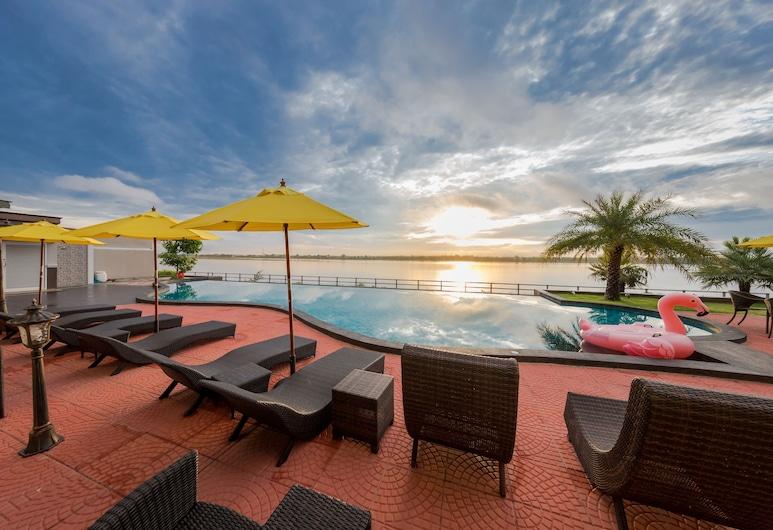Hotel de Ladda, Mukdahan, Widok z hotelu