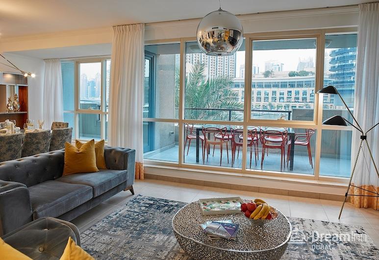 Dream Inn Dubai Duplex Marina Quays, Dubai, Lägenhet - 4 sovrum - utsikt mot marinan, Vardagsrum