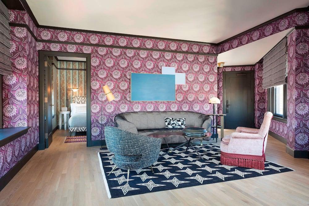 סוויטת פרמייר, חדר שינה אחד, ללא עישון, נוף לעיר - אזור מגורים