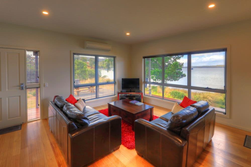 Executive vila, 2 spavaće sobe, pogled na plažu, uz plažu - Dnevni boravak