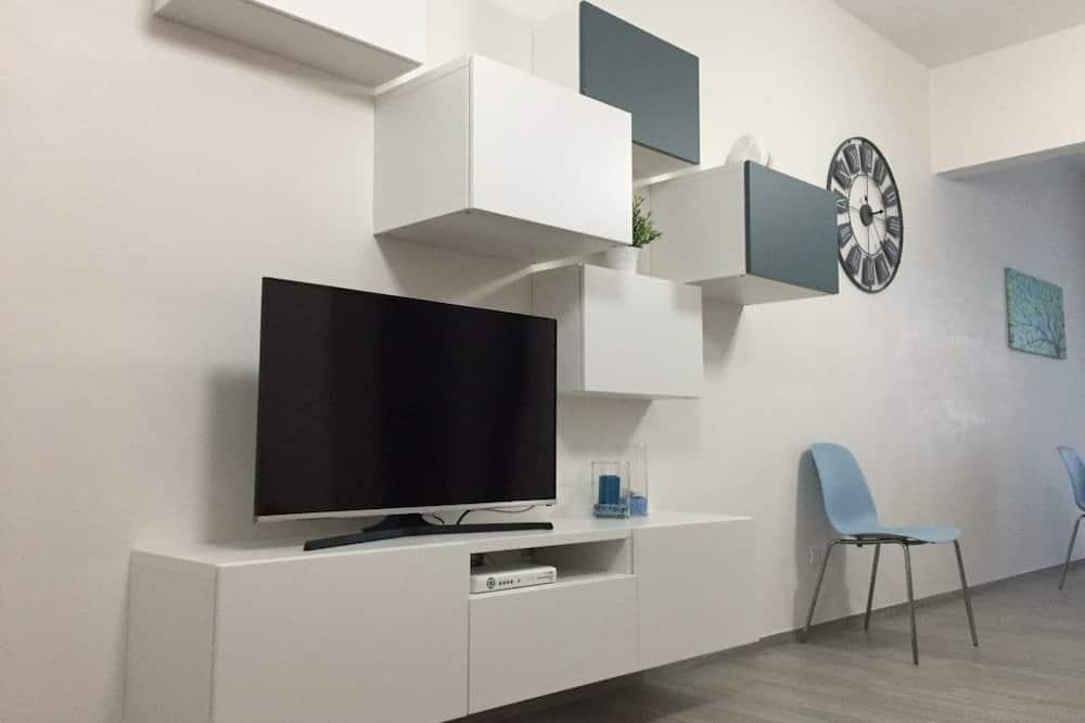 Apartmán typu Deluxe, kuchyně, výhled na moře - Obývací prostor