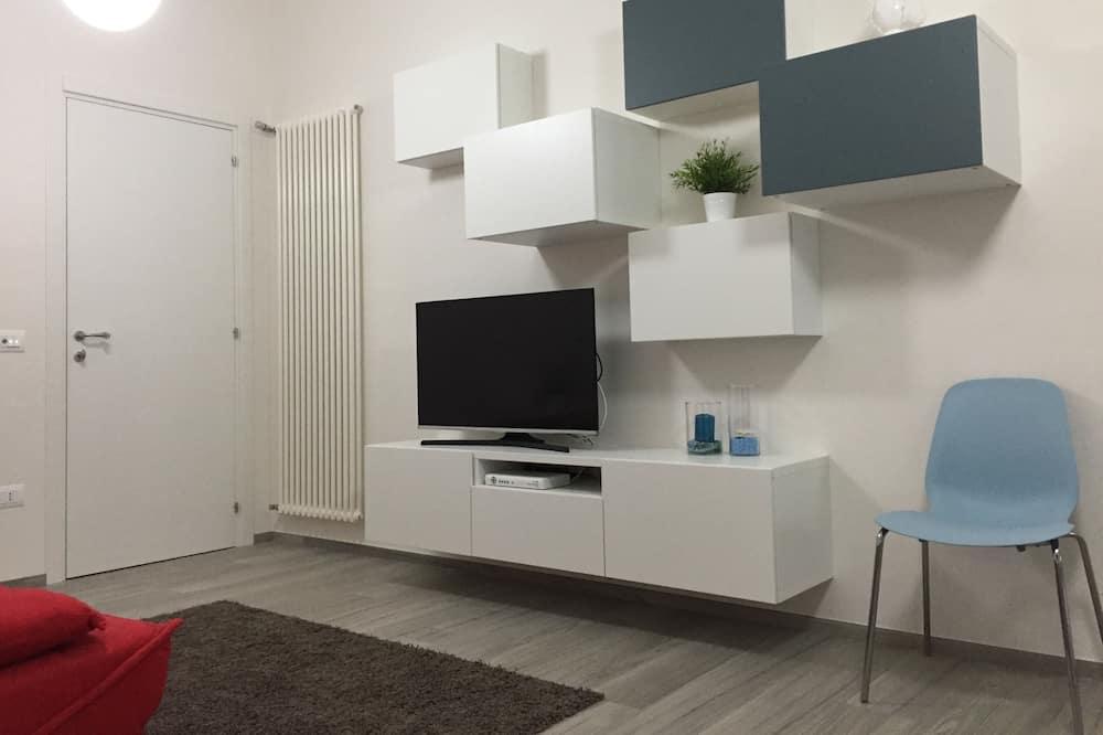 Lägenhet Deluxe - kök - havsutsikt - Vardagsrum