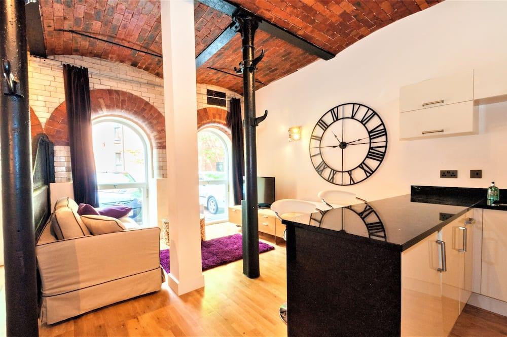 Lägenhet Deluxe - 1 sovrum - Vardagsrum