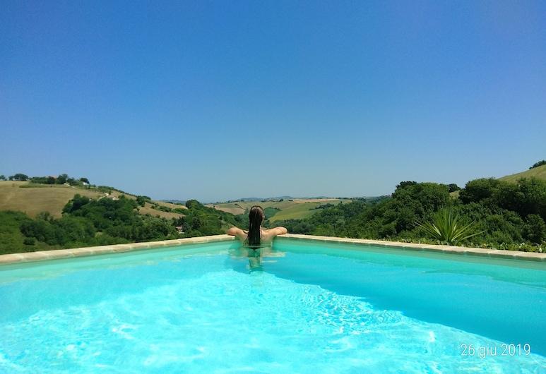 Villa Pesaro Urbino gårdshus med saltvannsbasseng. Vendrosella holdt, Pesaro, Svømmebasseng