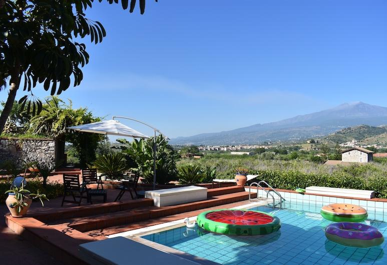 Private chlorine-free pool & Etna view - Villa Calipso - Taormina, ทาโอร์มินา, สระว่ายน้ำ