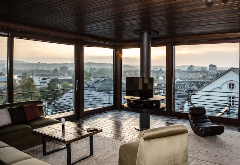 Spacious Apartment With a Panoramic View of the Rhine, Deutsches Eck and Fortress, Koblenz