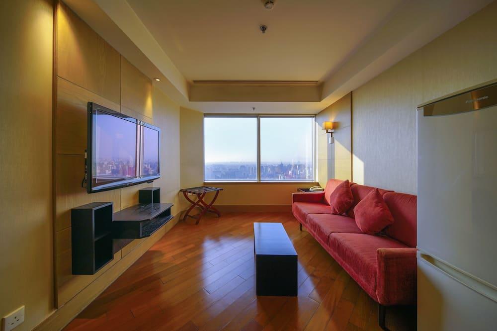 Dzīvokļnumurs ar papildu ērtībām, 1 divguļamā gulta - Dzīvojamā istaba