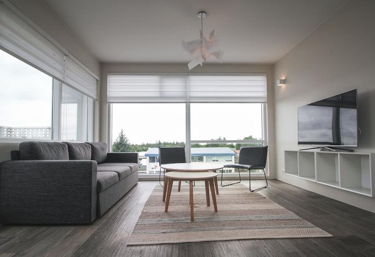 Bella Apartments & Rooms, Selfossi, Lúxusþakíbúð - 1 svefnherbergi - útsýni yfir á, Stofa