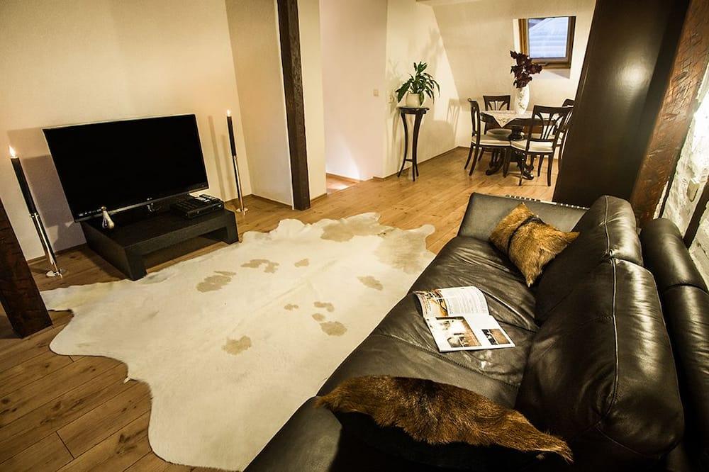 Appartement Duplex Confort, 1 chambre, cuisine, vue ville (Lichtentaler Strasse 19) - Salle de séjour