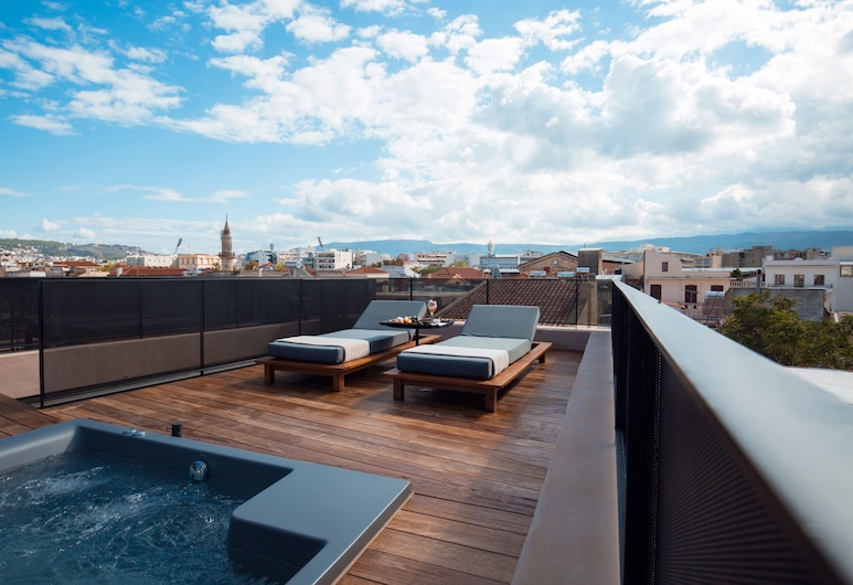 Monastery Estate Venetian Harbor, Chania, Penthouse suite with private terrace, hot tub and old town view, City View