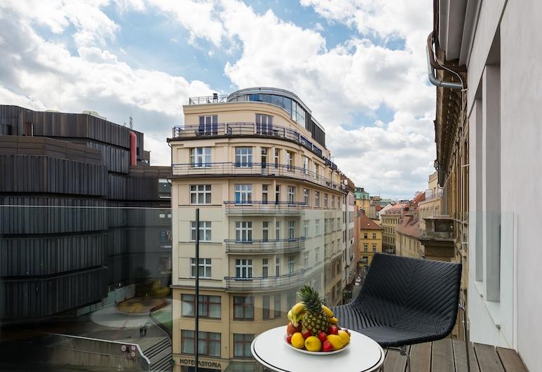 EMPIRENT Aquarius Apartments, Prag, Luxury Apart Daire, 4 Yatak Odası, Teras, Şehir Manzaralı, Balkon