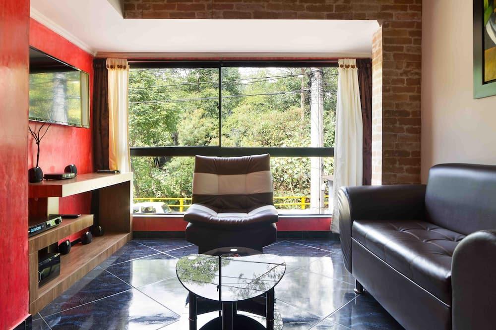 Classic Apart Daire, 1 Yatak Odası, Sıcak Su Havuzu - Oturma Odası