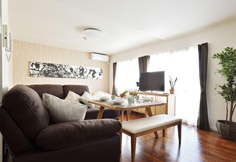 民泊の帝王 西心斎橋, 大阪市, ラグジュアリー アパートメント 2 ベッドルーム エグゼクティブフロア 801号室, リビング ルーム