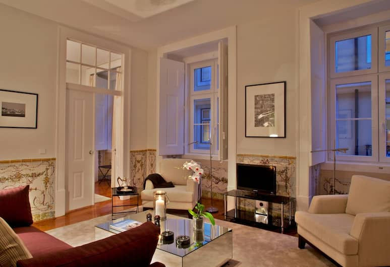 Baixa Apartments by linc, Lisbon, Superior Apartment, 3 Bedrooms (Rua dos Correeiros, 28), Living Room