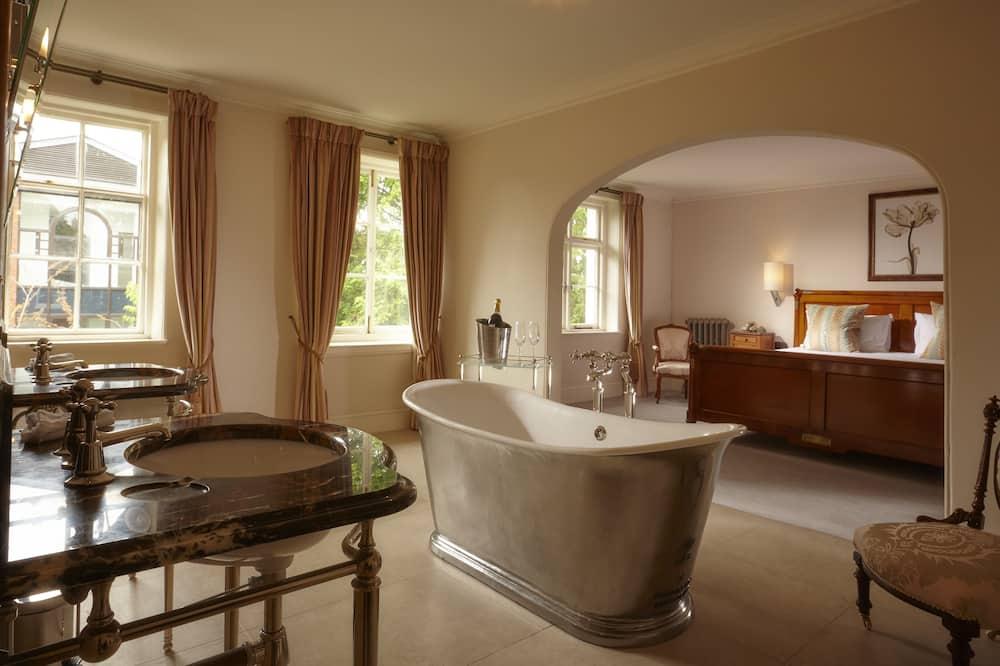 Chambre Double Luxe, 1 très grand lit - Salle de bain