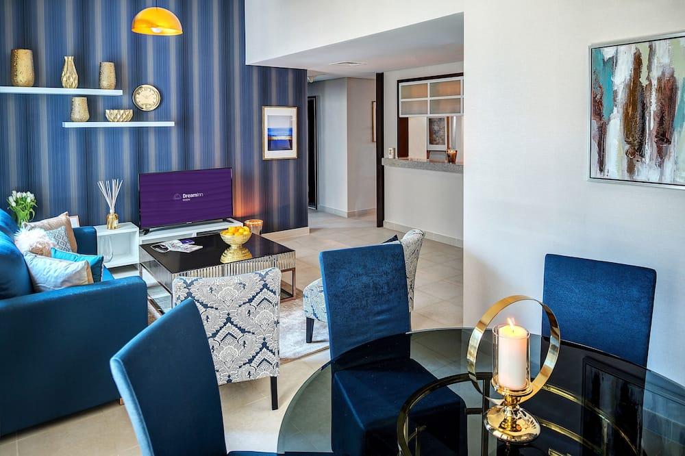 Design-huoneisto, 2 makuuhuonetta - Oleskelualue