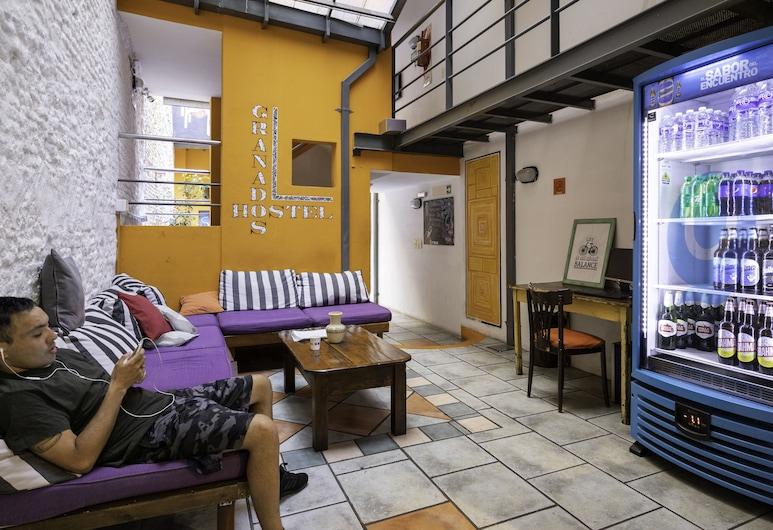 Granados Hostel, Buenos Aires, Svefnskáli - svefnsalur fyrir bæði kyn - einkabaðherbergi (4 people), Stofa