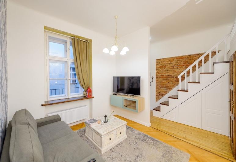 Pinkova Apartments, Praga, Suíte superior, 1 quarto, Cozinha americana, Área de estar