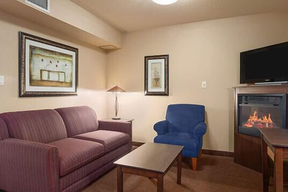 Люкс, Несколько кроватей, мини-кухня - Зона гостиной