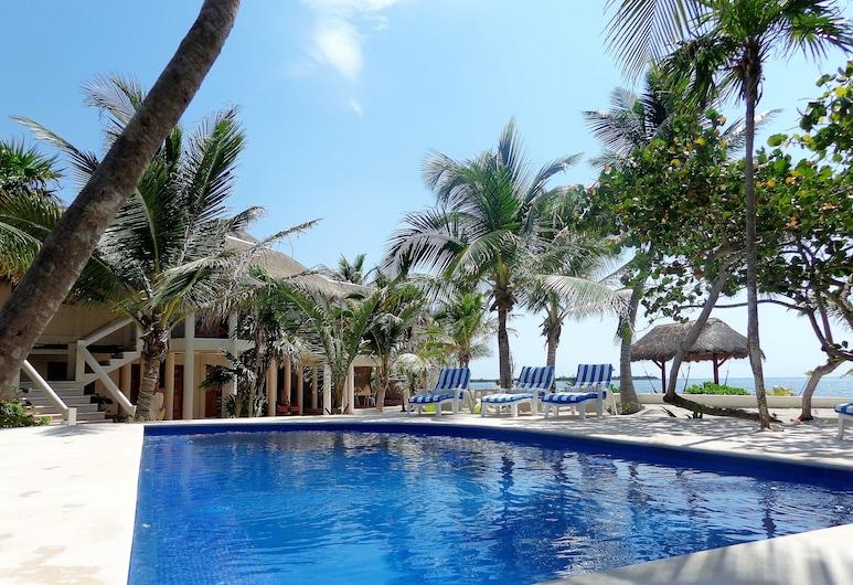 Beachfront Villa & Pool Tropical Paradise to Relax & Enjoy, 圖倫, 游泳池