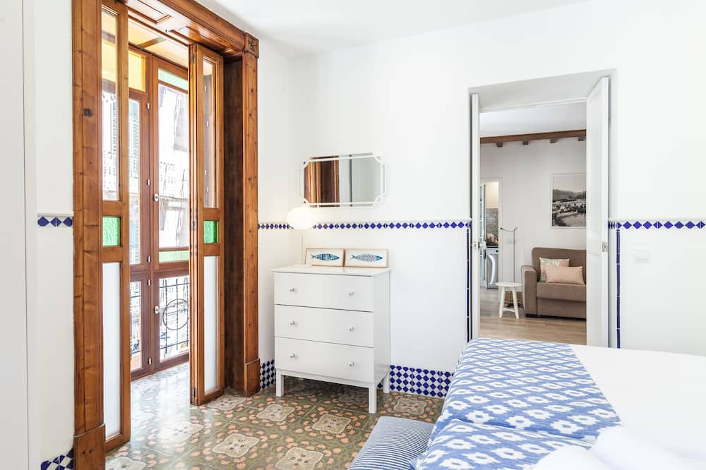 Apartamentai, 1 miegamasis, terasa, vaizdas į miestą - Balkonas