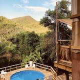 Bungalow Panoramic - 1 sovrum - privat badrum - utsikt mot bergen - Vardagsrum