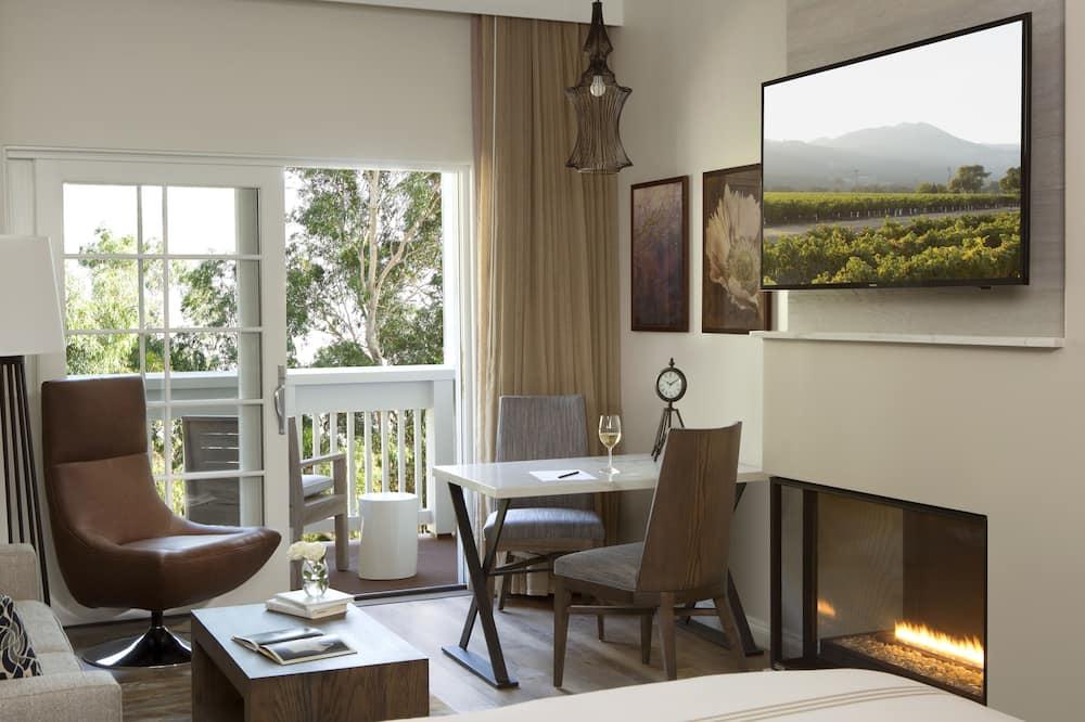 Luxusná izba, 1 extra veľké dvojlôžko, výhľad na rieku - Obývacie priestory