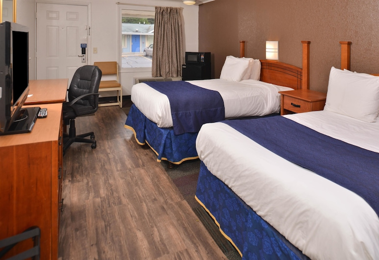 Americas Best Value Inn & Suites Jackson, MI, ג'קסון, חדר, 2 מיטות זוגיות, ללא עישון, חדר אורחים