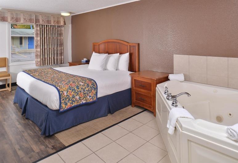 Americas Best Value Inn & Suites Jackson, MI, Jackson, Rum - 1 kingsize-säng - icke-rökare - bubbelbad, Gästrum