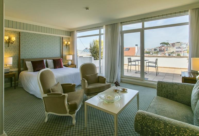 Olissippo Castelo, Λισσαβώνα, Superior Δίκλινο Δωμάτιο (Double), Μπαλκόνι, Δωμάτιο επισκεπτών