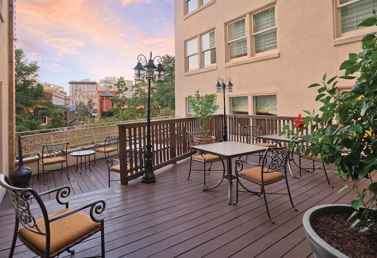 Club Wyndham Riverside Suites, San Antonio, Terraza o patio