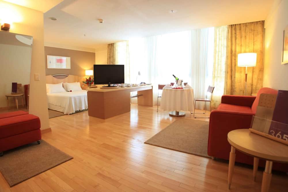 Habitación doble familiar, 1 cama doble con sofá cama - Sala de estar