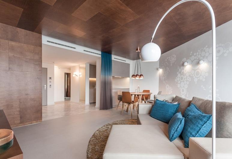 EMA House Hotel Suites, Zurique, Suíte superior, 2 quartos, Cozinha americana, Quarto