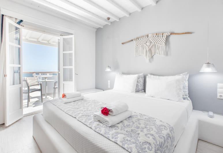 Mykonos Essence Hotel, Μύκονος, Deluxe Δίκλινο Δωμάτιο (Double), Θέα στη Θάλασσα, Δωμάτιο επισκεπτών