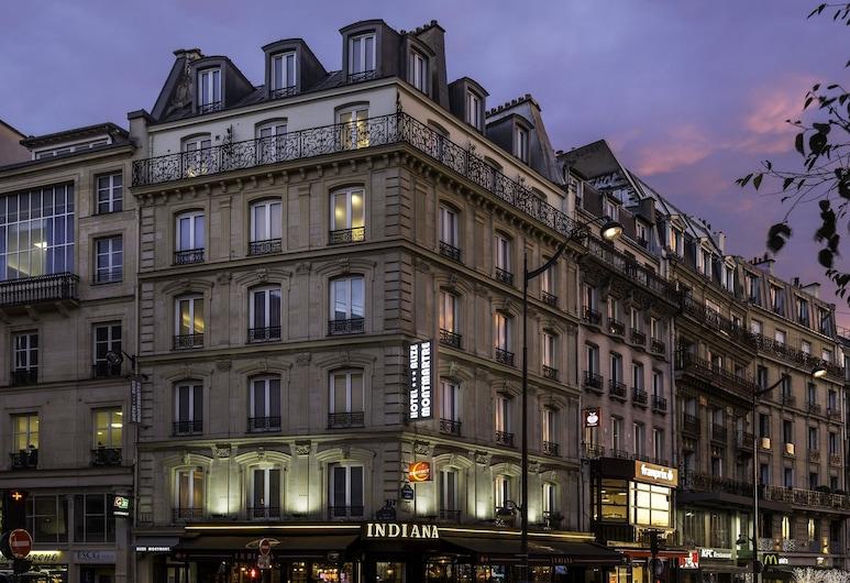 Contact Hotel Alizé Montmartre, Paryż, Fasada hotelu — wieczorem/nocą