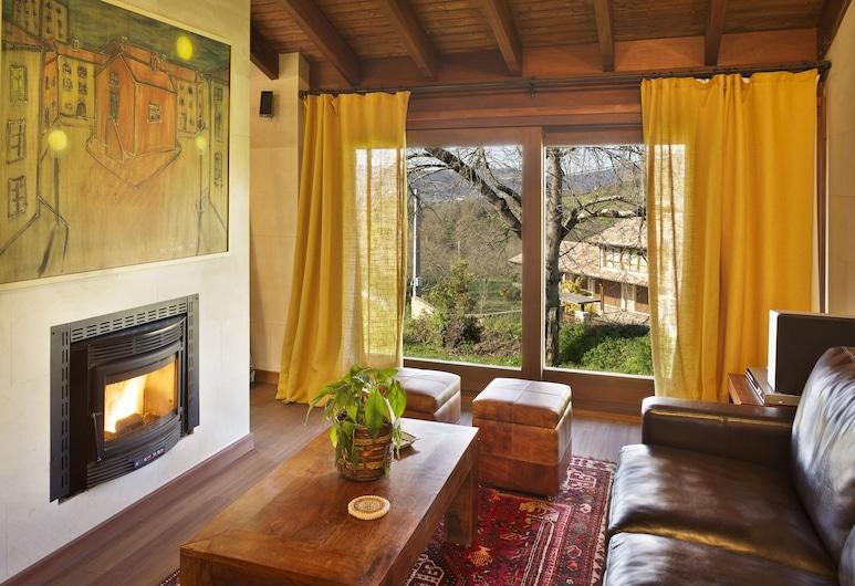 La Corte de Lugas, Villaviciosa, Liukso klasės poilsio namelis, 1 miegamasis, sūkurinė vonia, sodas, Svetainės zona