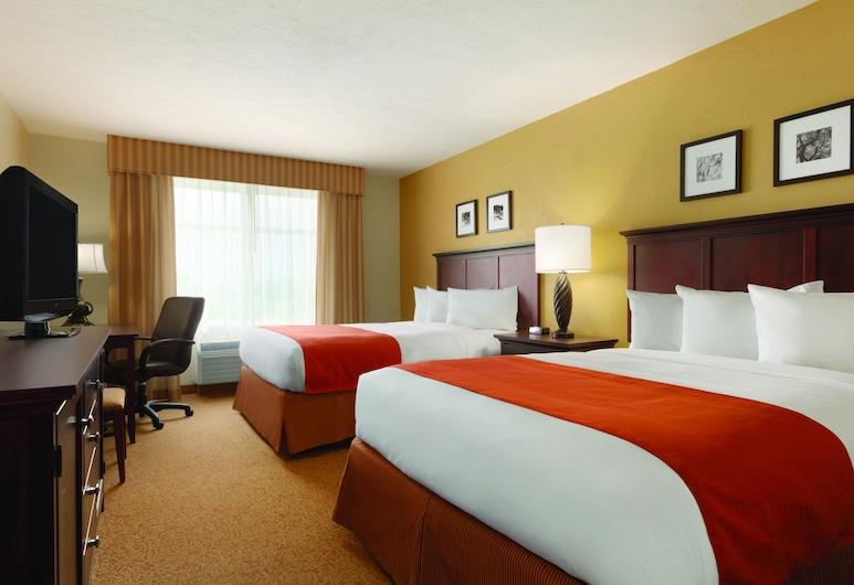 Country Inn & Suites by Radisson, Knoxville West, TN, Knoxville, Kamer, 2 queensize bedden, niet-roken, Kamer