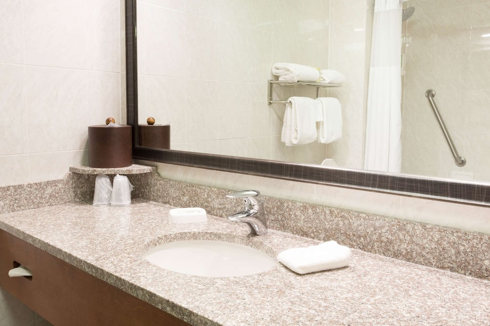 Pokoj typu Deluxe, 2 dvojlůžka (180 cm), lednička a mikrovlnná trouba - Koupelna