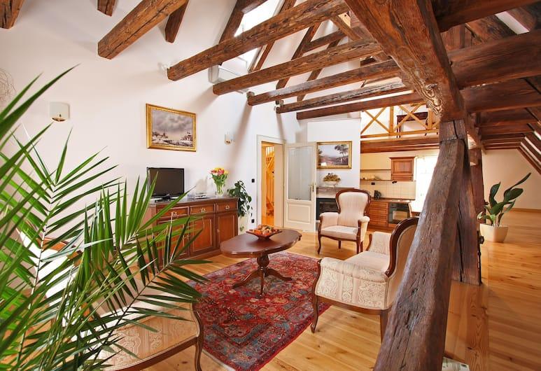 Residence Retezova, Prag, Royal Apart Daire, 2 Yatak Odası, Oturma Alanı