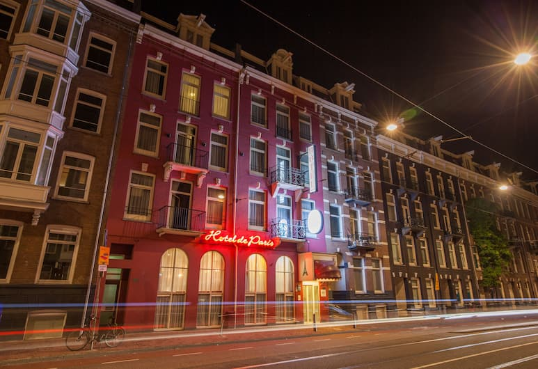 Hotel de Paris Amsterdam, Amsterdam, Hótelframhlið - að kvöld-/næturlagi