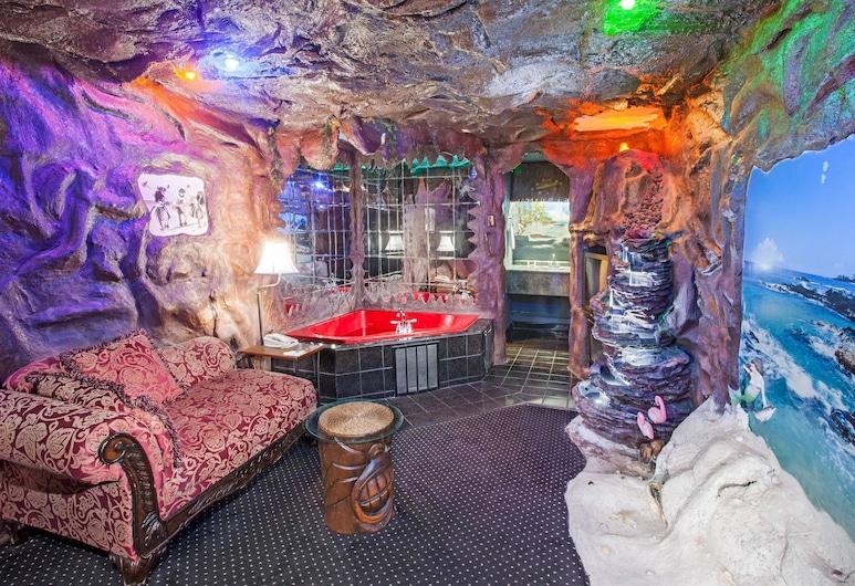 Days Inn & Suites by Wyndham Terre Haute, Terre Haute, Σουίτα, 1 Υπνοδωμάτιο (Hawaiian Volcano), Δωμάτιο επισκεπτών