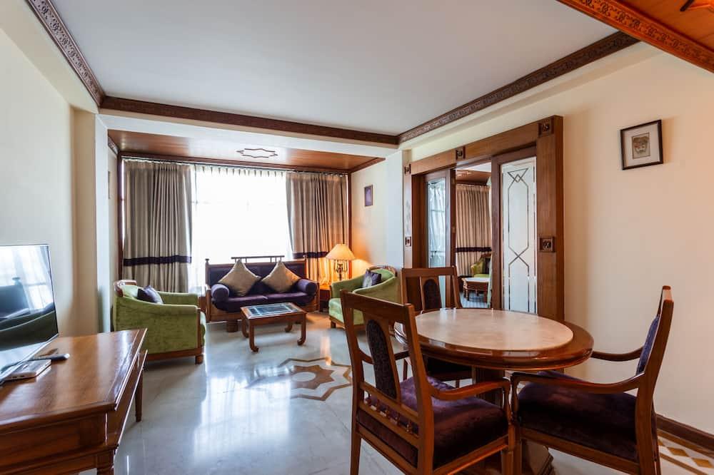 特級套房, 1 間臥室, 城市景, 行政樓層 - 客廳