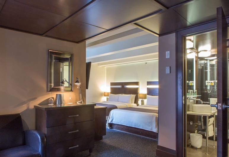 Hôtel Sainte-Anne, Quebec, Suite estudio junior, 2 camas de matrimonio, Habitación