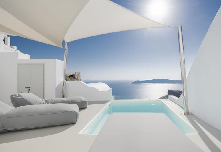 هوتل صني فيلاز, سانتوريني, جناح بريميم - غرفتا نوم - بمغطس ساخن - بمنظر للمحيط, غرفة نزلاء