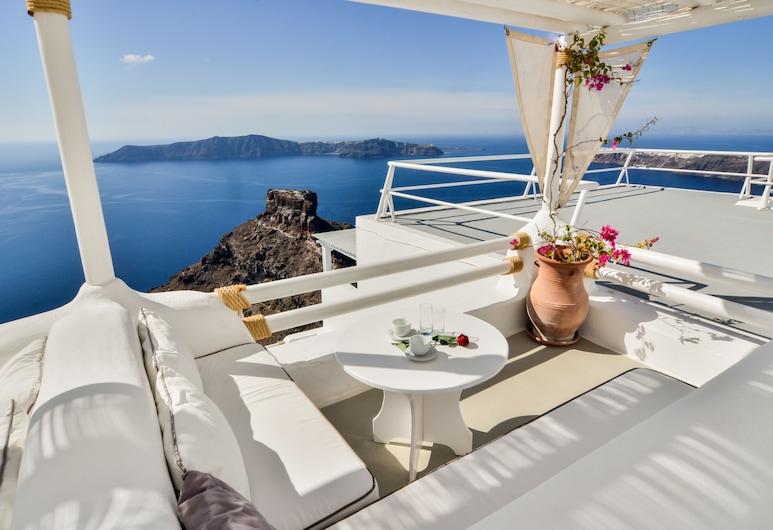 Hotel Sunny Villas, Santorin, Terrasse/Patio